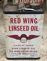 1950S Redwing Linseed Oil Tin 1 Gallon (Empty)