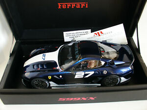 1/18 FERRARI 599XX #27 2009  BLUE METALLIC LIMITED EDIT. 99 pcs by MR COLLECTION