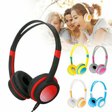 Adjustable Wired Headsets Kids Headphones 3.5mm Over Ear Earphone for Tablet Mp3