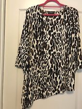Travelers Sz 16 (3) Animal Print 3/4 Sleeve Asymmetrical Knit Top! Free Ship!