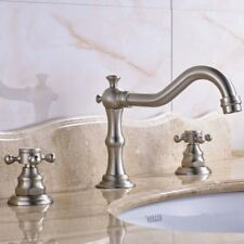 3 Holes Ceramic Valve Bathroom Sink Faucets Mixer Tap with 2-year Warranty