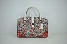 NWT Auth Coach 57703 Mercer Satchel 24 Multi Floral Printed Leather Chalk Yankee