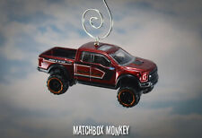 2017 Ford F150 Raptor Crew Ext Cab Pickup Truck Custom Christmas Ornament 1/64