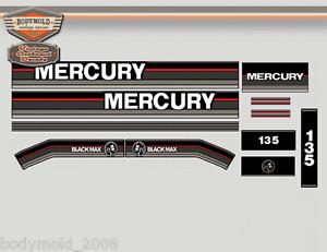 Mercury 135hp Outboard decals 1989.... Vintage Series