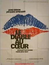 LE DIABLE AU COEUR Affiche Cinéma / Movie Poster JANE BIRKIN