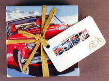 Ceramic Drink Coasters Vintage Auto / Old Cars Set / 4 Made in the USA Free Ship