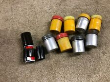 Lot of 8 Vintage Film Canisters ~ Metal With Lids ~ KODAK 35MM AND FILM ALSO
