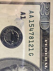ERROR 1996 $20 FR NOTE 《ADDITIONAL IMPRESSION OF BLACK OVERPRINT》Super Top Rare!