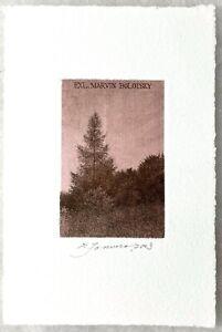 Shigeki Tomura -  Radierung / etching Exlibris Ex libris