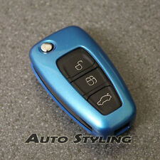 Blue Key Cover Case for Ford Remote Protector Flip Fob Hull 2 3 Button 47dblu