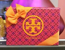 Tory Burch Gift Box w/ Orange Ribbon Bow, Insert, gift card flip over holder New