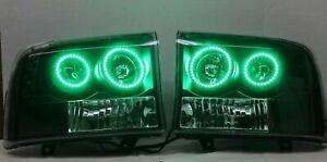 1999-2004 Ford F250/F350 Pre-Built Headlights LED RGB Angel Eyes Halo Ring