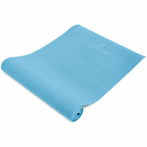 Non-Slip Textured-Surface Original-Style PVC Workout and Yoga Mat 1/4 inch