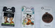 More details for disneyland paris trading pins disney mickey mouse, chip and dale, walt disney