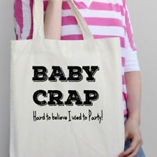 Baby Crap I used to Party Tote Bag Changing Nappy Shower New Shopper Gift Funny