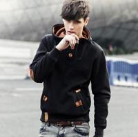 Men Winter Slim Hoodie Warm Hooded Sweatshirt Coat Jacket Outwear Sweater Ths01
