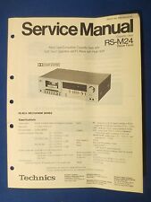 TECHNICS RS-M24 CASSETTE SERVICE MANUAL ORIGINAL FACTORY ISSUE REAL THING