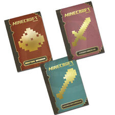 Official Construction,Combat and Redstone Handbook 3 Books Collection Set NEW HD