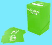 ULTIMATE GUARD DECK n TRAY GREEN 100+ CASE Standard Size Dividers MTG Card Box