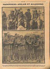 Prisoners Feldgrauen Liner Royal Navy/Highlanders Doeberits Germany WWI 1914