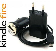 """Kit Caricabatteria Casa / Auto + Cavo Dati Micro USB per Kindle Fire HD 7"""""""