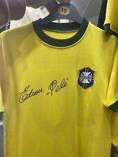 More details for pele signed shirt unframed with coa