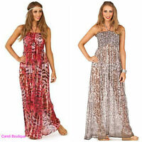 CHIFFON MAXI DRESS COVER UP KAFTAN HOLIDAY CRUISE BEACH FESTIVAL 8-18 rrp £30