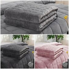 PREMIUM VELVET WEIGHTED GRAVITY BLANKET ANXIETY AUTISM DEPRESSION SLEEP THERAPY
