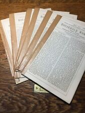 Lot Of 6: Charles Dickens Household Words, 1853