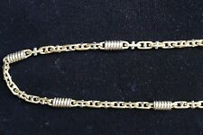 14K. YELLOW GOLD *** BARREL LINK STYLE NECKLACE 53.2 GRAMS 22 INCHES