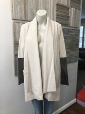 Mason by Michelle Mason Leather Sleeve Car Coat Size 4