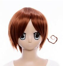 W-18 APH AXIS POWER HETALIA ITALY COSPLAY Perücke Wig hitzefest braun brown