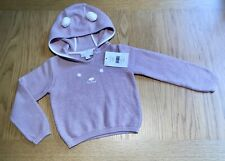 The Little White Company Bear Face Hoodie Jumper Age 18-24 Months RRP £34 - NWT