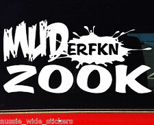 Funny Car Stickers for SUZUKI sierra 4x4 Bullbar MUDerfkn ZOOK 200mm
