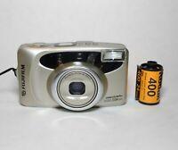 Fujifilm Discovery S1050 Zoom Date 35mm AF Camera w. Kodak Gold - Film Tested