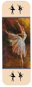 BALLERINA  BALLET DANCER BEAUTIFUL BOOKMARK SAME IMAGE BOTH SIDES GREAT GIFT
