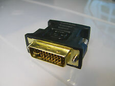 Gold DVI-I (24+5) Dual Link Male to HD15(VGA) Female Monitor Adapter for  HDTV