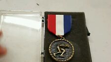Vintage Ice Skating Medal Ribbon In Original Case Year Unkown?