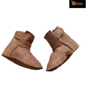 2 pair Baby Sheepskin Shearling Booties Double Face Wool Lined Boots