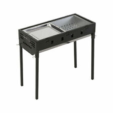 Charcoal BBQ Grill Protable Hibachi Outdoor Barbecue Set