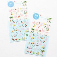 Manet Genuine Korean Flamingo Holiday Decorative Stickers Adhesive Stickers