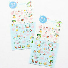 Manet Genuine Korean Flamingo Holiday Decorative Stickers Adhesive Stickers