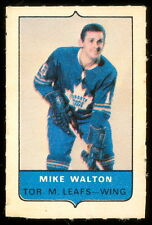 1969-70 OPC O-PEE-CHEE MINI 4 in1 MIKE WALTON MAPLE LEAFS EX+ CARD STAMP Sticker