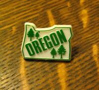 Oregon Pines State Map Lapel Pin - Vintage Northwest USA Pine Trees Souvenir Pin