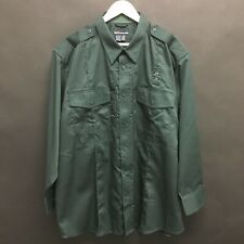 NEW Mens 2XL 5.11 TACTICAL EDC Shirt Green Epaulets Poly Cotton XXL-SUPERB-  30c