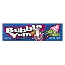 Bubble Yum Gum Cotton Candy 18 pack (5 ct per pack)