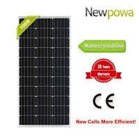 Newpowa 100W Watts 12V Monocrystalline Solar Panel Off Grid Kit for RV Marine