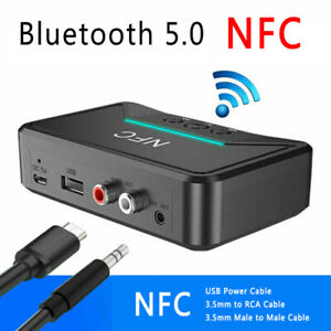 BT200 Wireless NFC Bluetooth 5.0 Receiver 3.5mm AUX HiFi Stereo Audio Adapter af