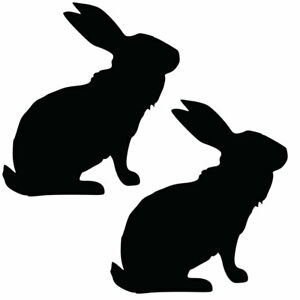 Qty 2 Hare Stickers Car Window Wall Decals Any Colour HHH 10cm - 50cm