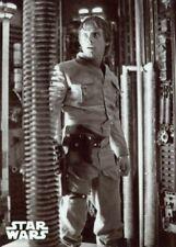 Star Wars ESB Black & White Metal [1/1] Base Card #125 Luke Falls In